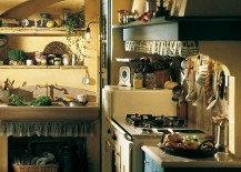Country kitchen turns to natural materials for elegant shelves and countertops