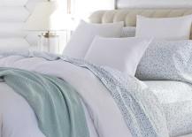 Coyuchi Blue and White Mediterranean Bedding
