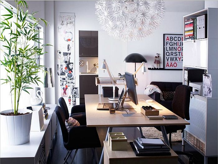 dashing decorating ideas for the scandinavian home office view in gallery cozy home office with pops of color and neutral home office cool office space idea funky