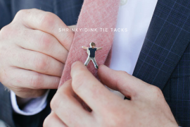 DIY Shrinky Dink Tie Tack  8 DIY Father's Day Gifts to Make for Dear Old Dad DIY Shrinky Dink Tie Tack