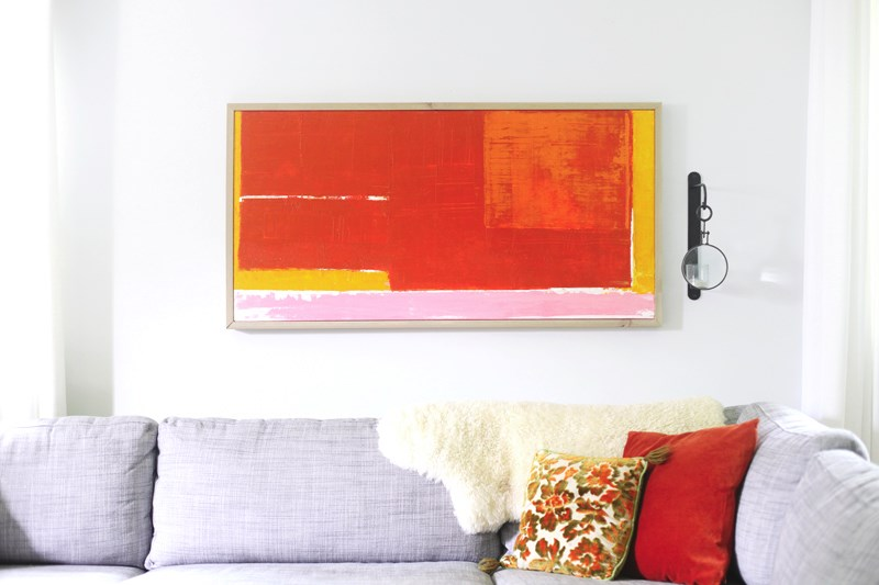 DIY abstract art from A Beautiful Mess