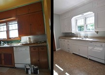 DIY-molding-added-to-the-modern-kitchen-cabinets-217x155