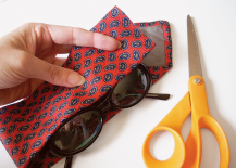 DIY necktie eyeglass case