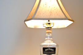 DIY recycled liquor bottle lamp  8 DIY Father's Day Gifts to Make for Dear Old Dad DIY recycled liquor bottle lamp