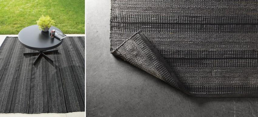 Dark striped rug from Room & Board