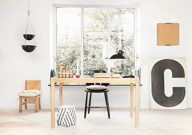 Dashing decorating ideas for the Scandinavian home office