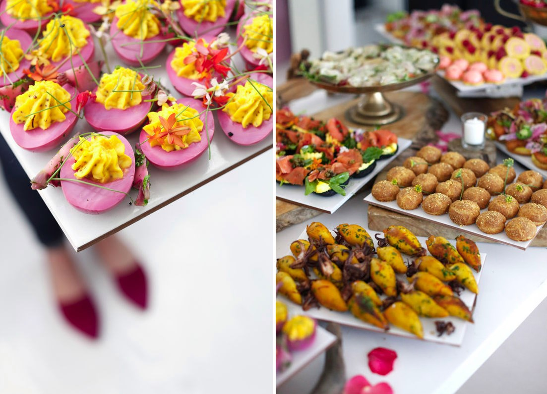 Delicious nibbles from a Design Love Fest party