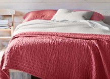 Eileen Fisher Organic Cotton Coverlet red