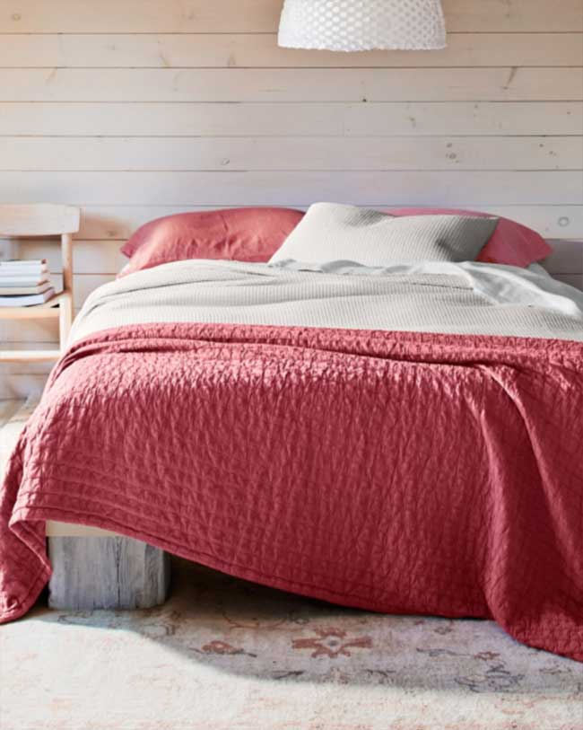 View In Gallery Eileen Fisher Organic Cotton Coverlet Red