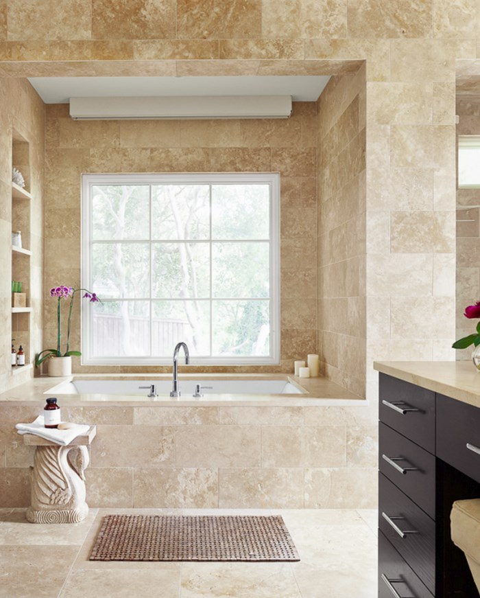 Elegant bathroom of blogger Camille Styles