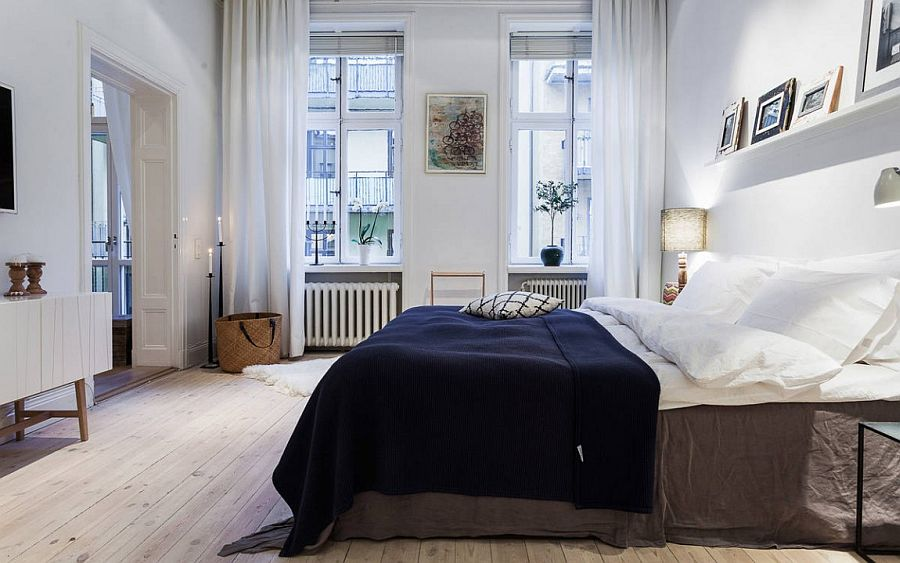 View in gallery Elegant bedroom keeps the color palette simple and neutral   From  Alexander White. 36 Rela and Chic Scandinavian Bedroom Designs