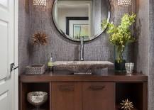 Elegant powder room decorating idea