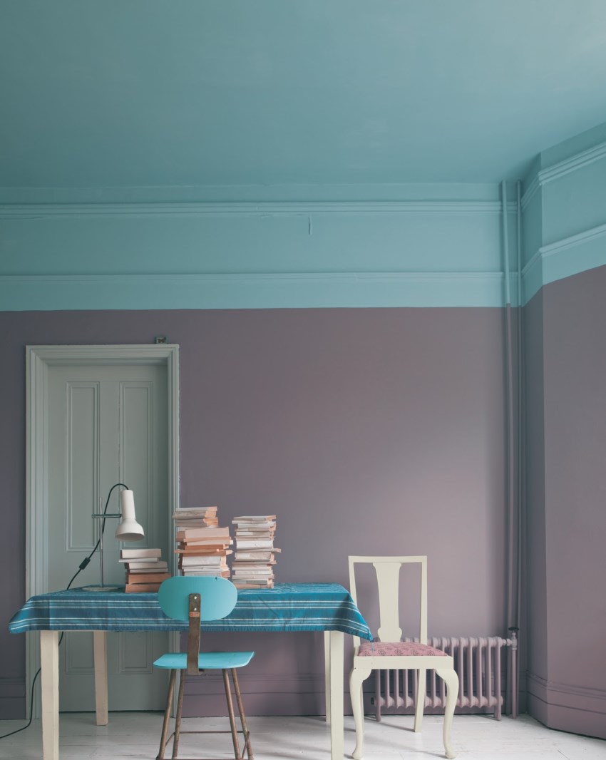 Eye-catching room featuring Farrow + Ball paint