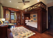 Fabulous bunk bed steals the show in this posh kids' bedroom