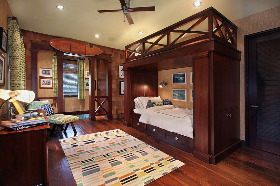 Fabulous bunk bed steals the show in this posh kids' bedroom [From: Jeri Koegel Photography]