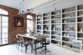 Chic Loft Apartment in London Adds Feminine Beauty to an Industrial Setting