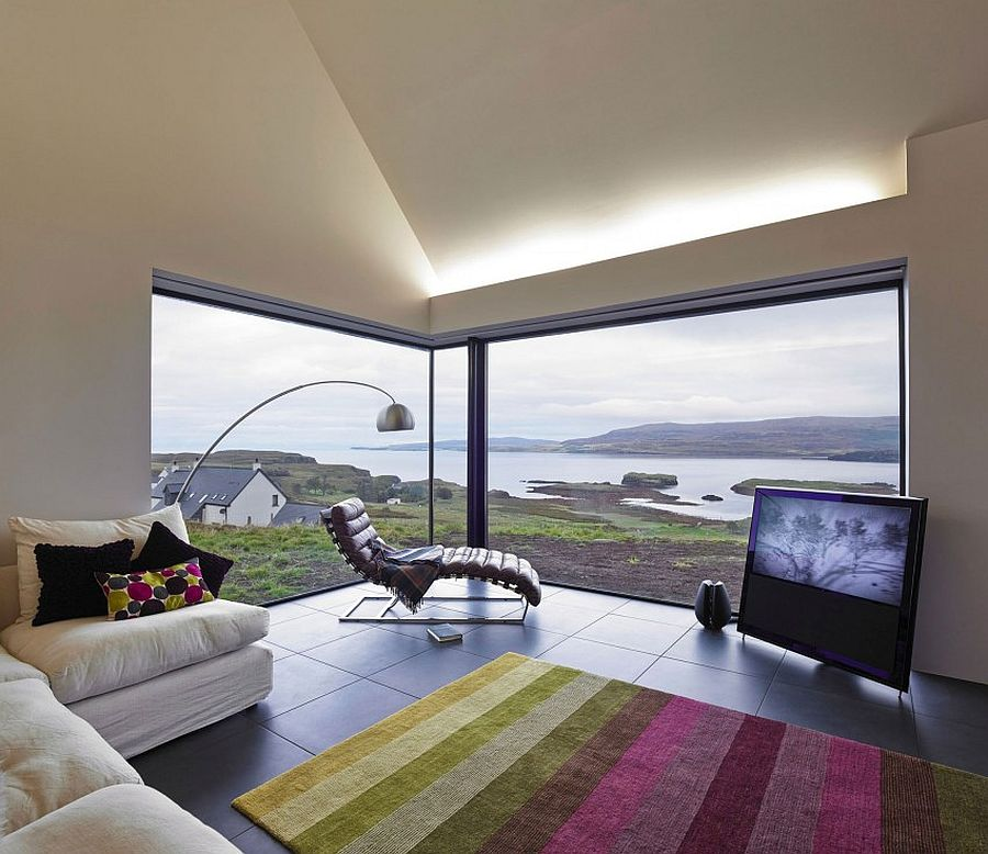 Fabulous views of the hills and the river from the awesome Scottish home