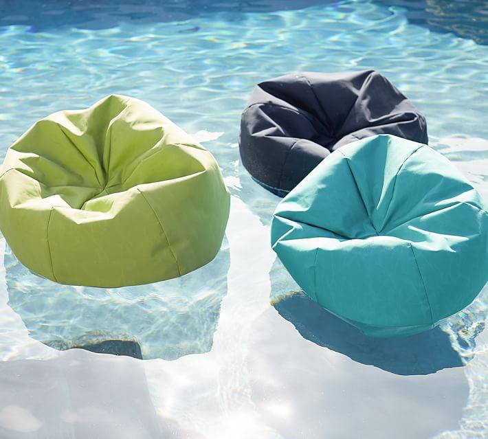 Floating beanbag seating from Pottery Barn