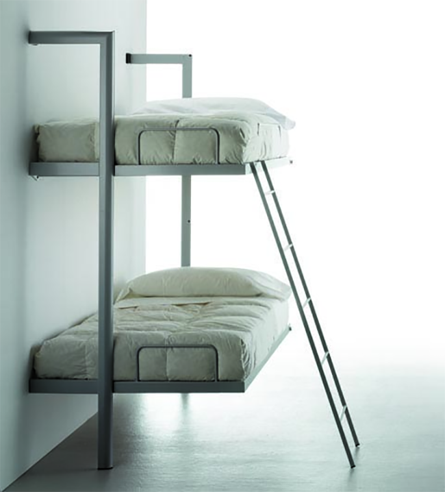 Fold Down Bunk Beds with Ladder