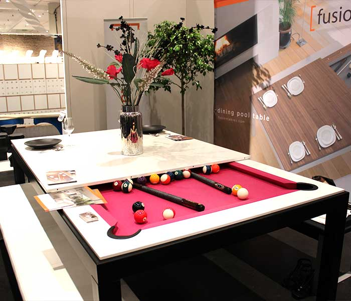 View In Gallery Fusion Tables Pool Table And Dinner Table