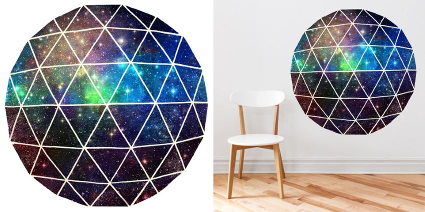 Geodesic wall decal from Walls Need Love  Easy Wall Decorating Ideas for Renters Geodesic wall decal from Walls Need Love