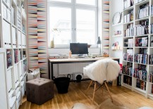 Geometric-pattern-wallpaper-for-the-trendy-modern-home-office-217x155