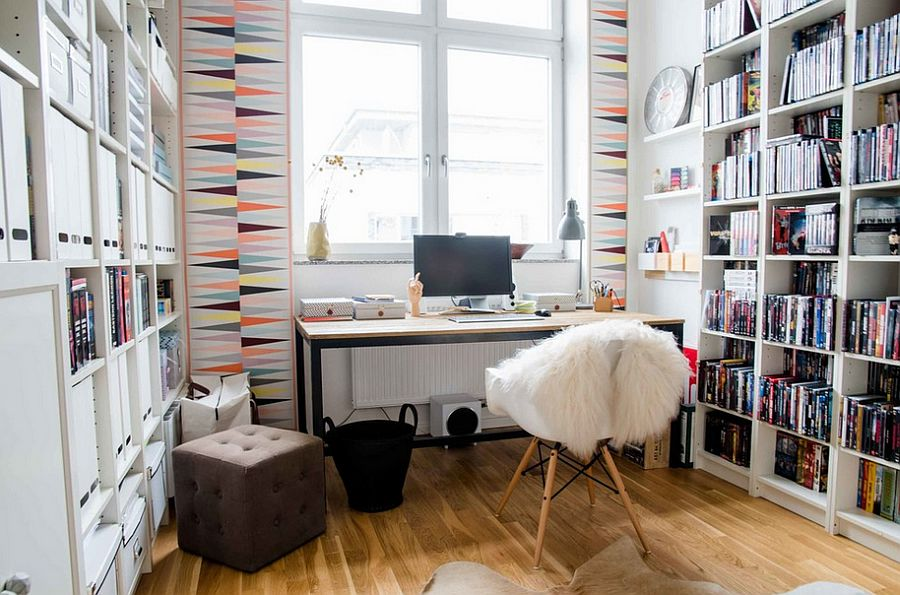 50 splendid scandinavian home office and workspace designs for Wallpaper home office