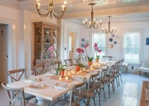 Get the lighting right in your cheerful dining room