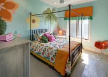 Girl's bedroom inspired by relaxed island life