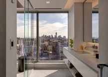 Posh Art Collector's Apartment Dazzles with Incredible Views of NYC Skyline