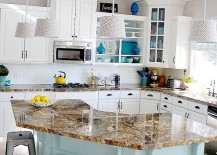 Gorgeous-kitchen-in-aqua-and-white-with-open-cabinetry-217x155