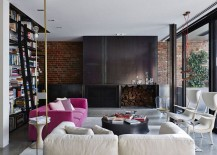 Gorgeous-use-of-color-and-texture-in-the-elegant-living-room-with-brick-wall-217x155