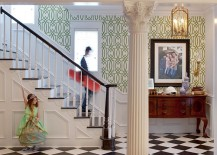 Gorgeous-use-of-wallpaper-with-elegant-green-pattern-217x155