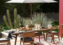 Grey outdoor umbrella from West Elm