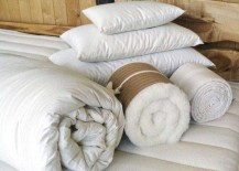 Holy Lamb Organics Eco Wool Comforters and Pillows 217x155 8 Organic Bedding Options to Give You Sweet Green Dreams