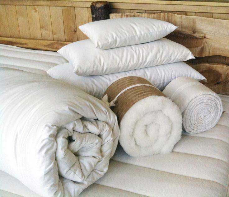 Holy Lamb Organics Eco Wool Comforters and Pillows