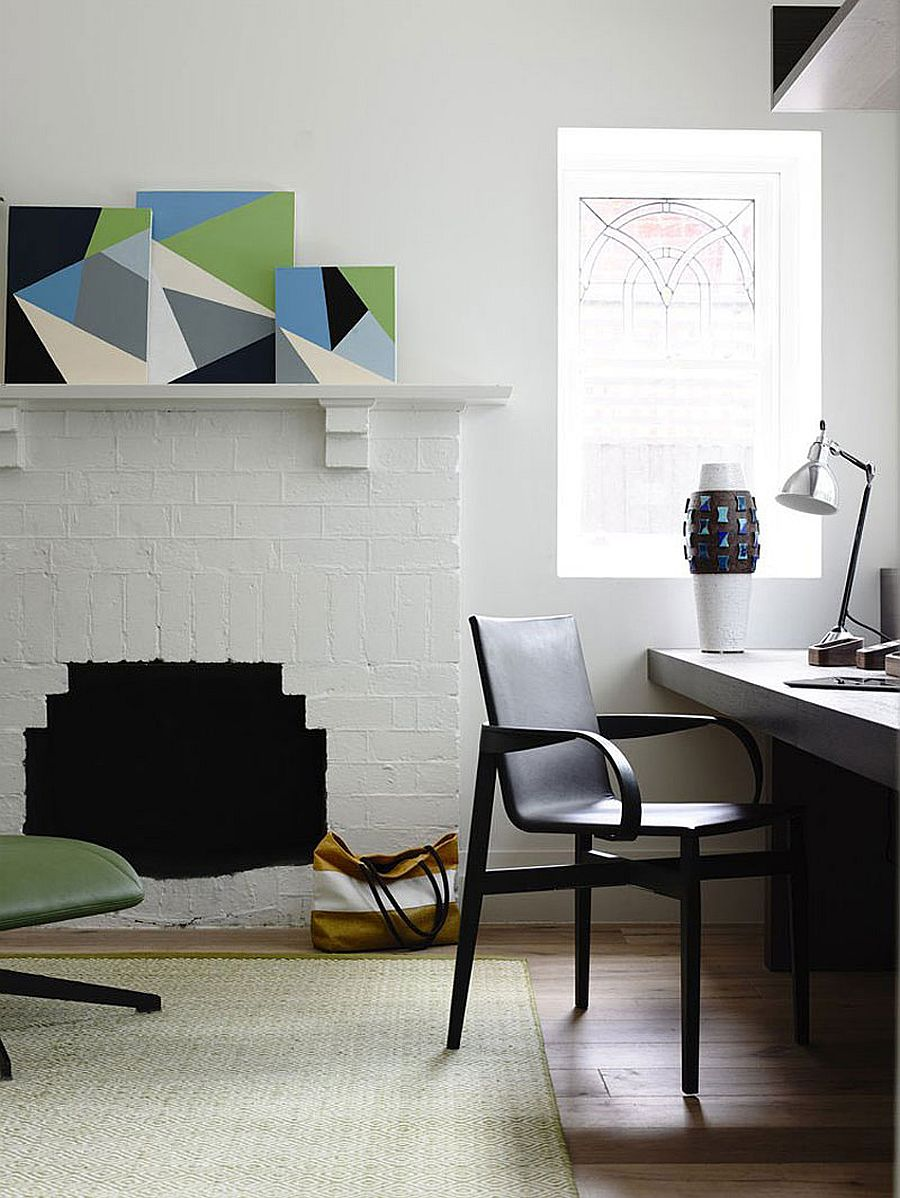 Home workspace with modern eclectic style