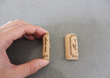 Horizontal Wine Cork Placecard Holder