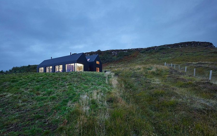House in Colbust by Dualchas Architects in Skye Scotland Dashing Dark Exterior Shapes Striking Contemporary Home in Isle of Skye
