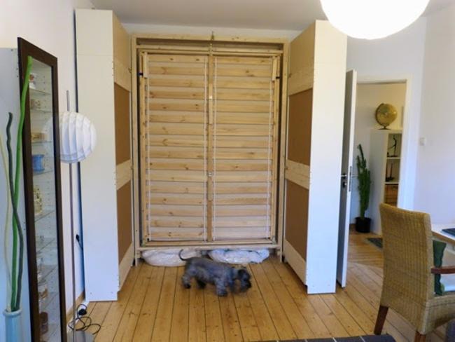 IKEA Billy Bookshelf Completely Open Bed