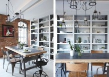 Industrial dining room design inside the London Loft