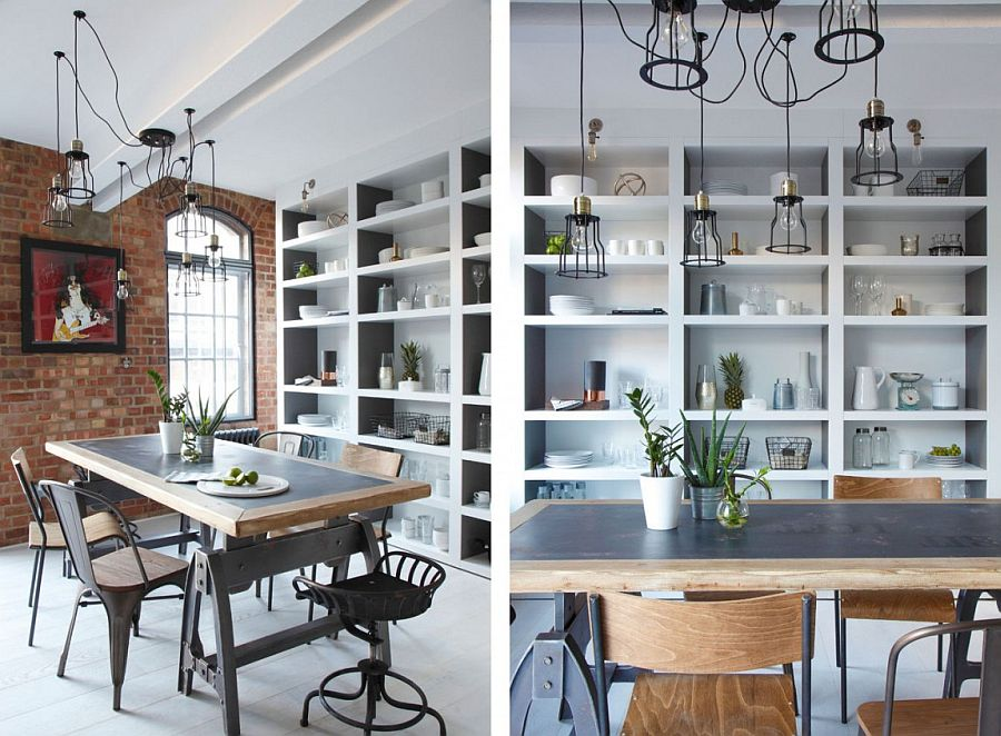 Industrial dining room design inside the London Loft