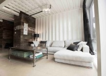 Industrial living room with a relaxed, trendy vibe