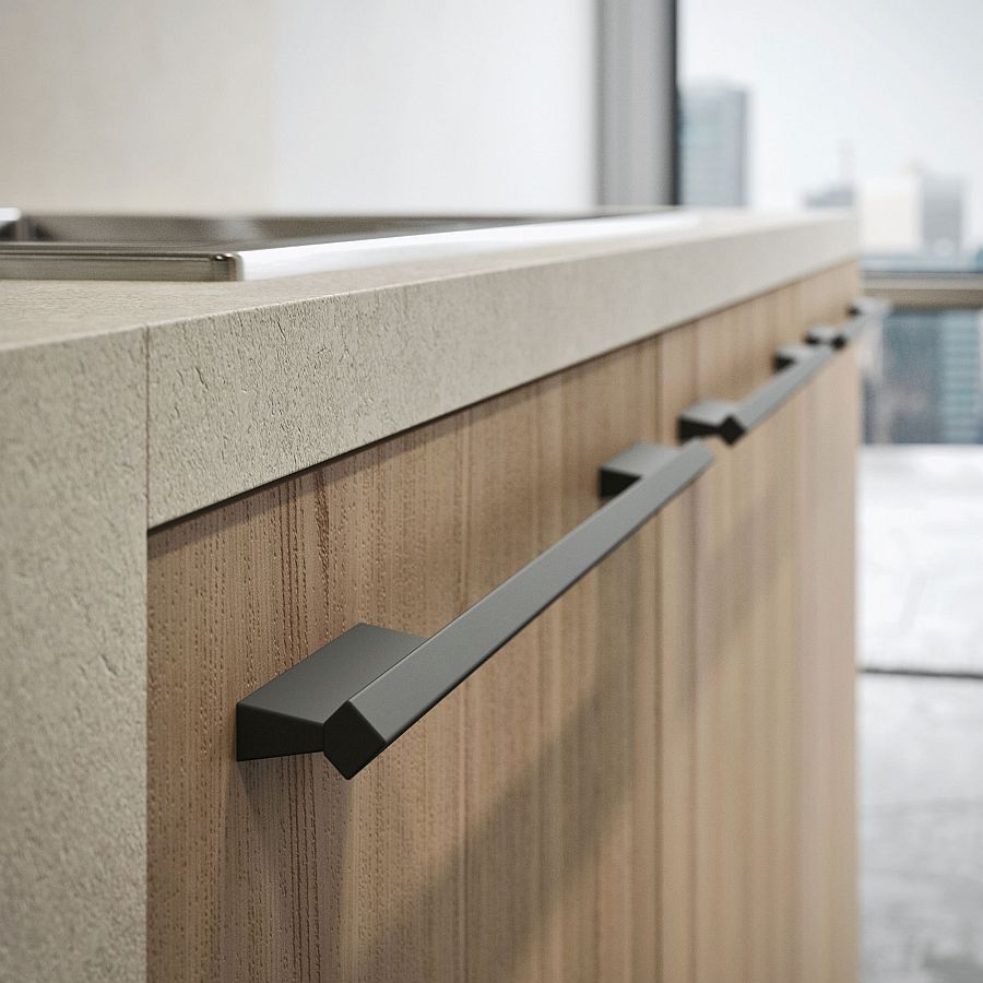 Ingenious handle design brings back its prominence into the modern kitchen