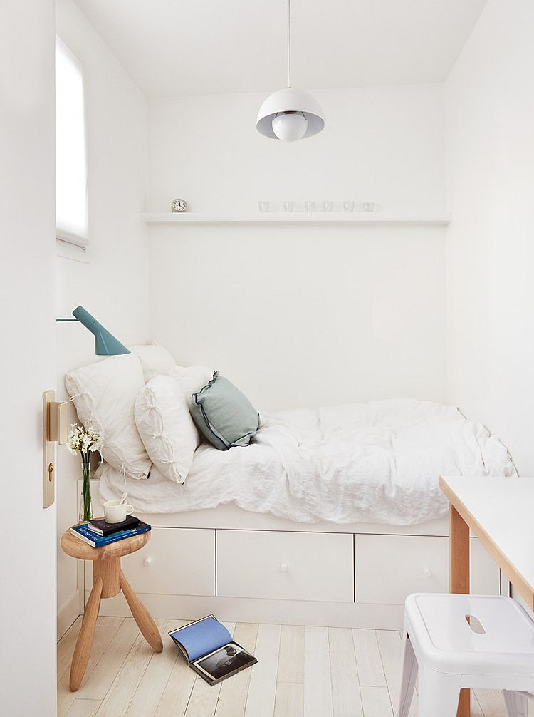 View in gallery Ingenious small bedroom design idea  Design  A B KASHA  Designs. 36 Relaxing and Chic Scandinavian Bedroom Designs