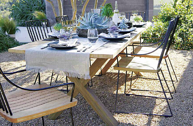 Inviting table setting with succulents