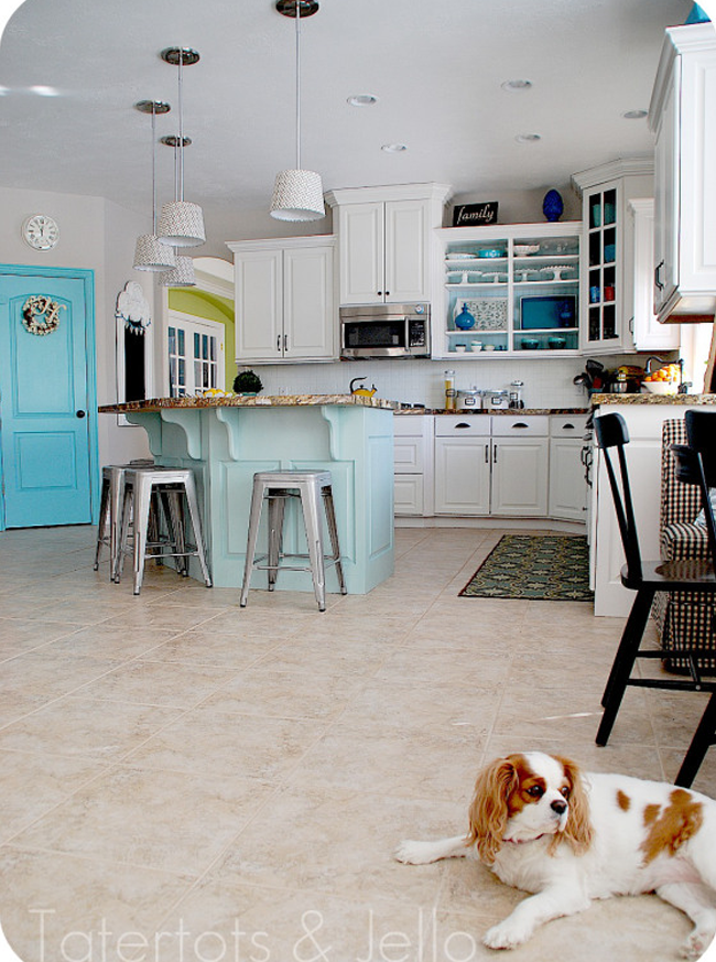 Jen's Aqua and White Kitchen Remodel