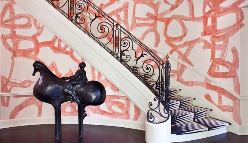 Kelly Wearstler entryway wallpaper