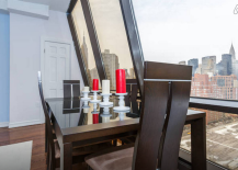 Kips Bay Penthouse Dining Area with Skyline View