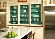 Kitchen Cabinet green 217x155 7 Affordable Hacks to Make Your Kitchen Look Expensive